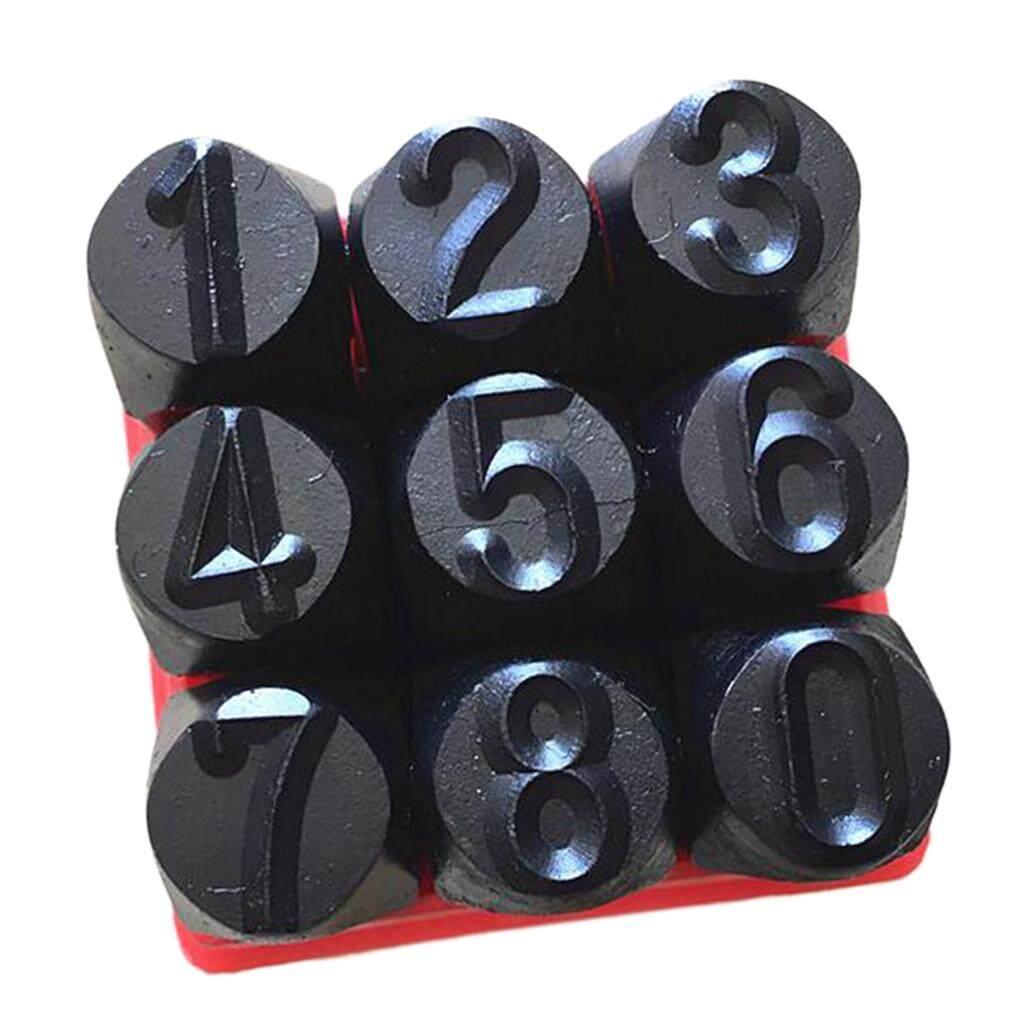 Steel Punch Stamp Die Set Metal Steel Tool Numbers 0-9 9Piece Set 6mm