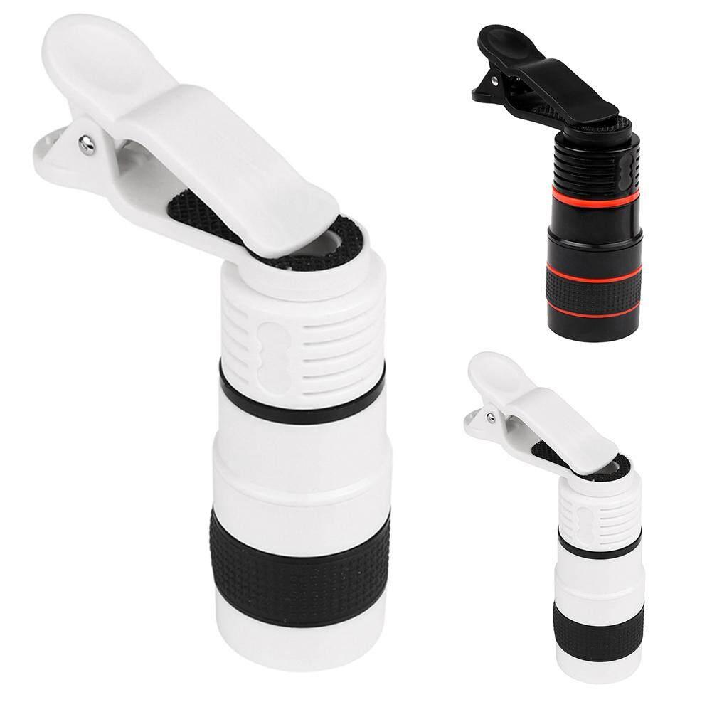 Đa năng 8X Zoom Quang Kính Thiên Văn Camera Ống Kính Kẹp Điện Thoại Di Động