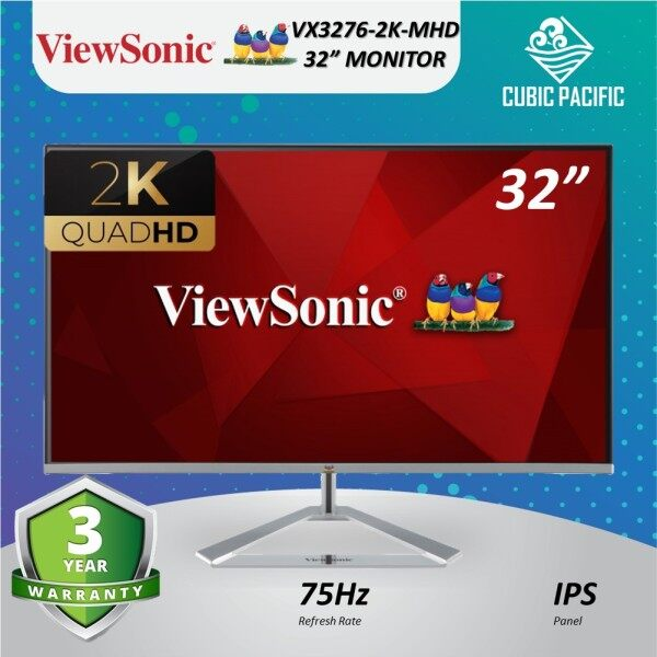 9.9 (READY STOCK)  ViewSonic VX3276-2K-MHD 32 2K WQHD 1440p IPS 75Hz Built-in Speaker VESA Mount Entertainment Gaming Monitor Malaysia