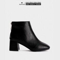 Giầy Bốt Nữ Boot Da Mịn Gót Vuông 5Phân HAPAS – BOT528