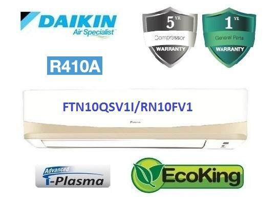 Daikin 1.0HP Premium Non Inverter Air Conditioner R410A QS Series FTN10QS & RN10F (F.O.C. Rocky West America Backpack)
