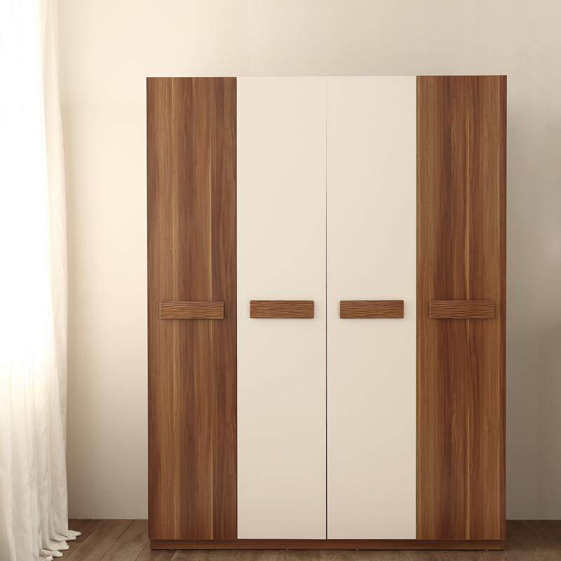 Linsy simple modern wardrobe,  bedroom furniture multi-functional pull door closet pull door large wardrobe cabinet CP1D