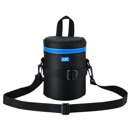 JJC DLP-3II Chống Nước Deluxe Lens Túi Đựng Có Dây Đeo Vai Cho Canon 24-70Mm F4, 18-135Mm, Tamron 10-24Mm, ống Kính Sony 75-300Mm (Kích Thước Bên Trong 80X170Mm)