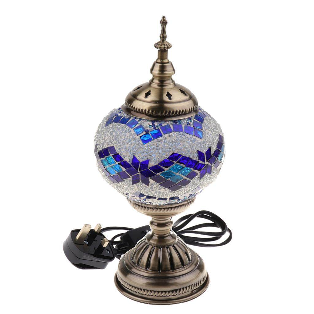 Perfk Table Desk Light Turkish Mosaic Lamp Handmade Night Light UK Plug