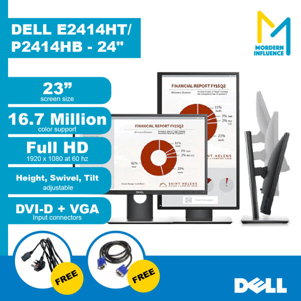(Grade A) DELL, HP LCD/ LED 20 - 30 inch Widescreen Monitor with Stand Malaysia