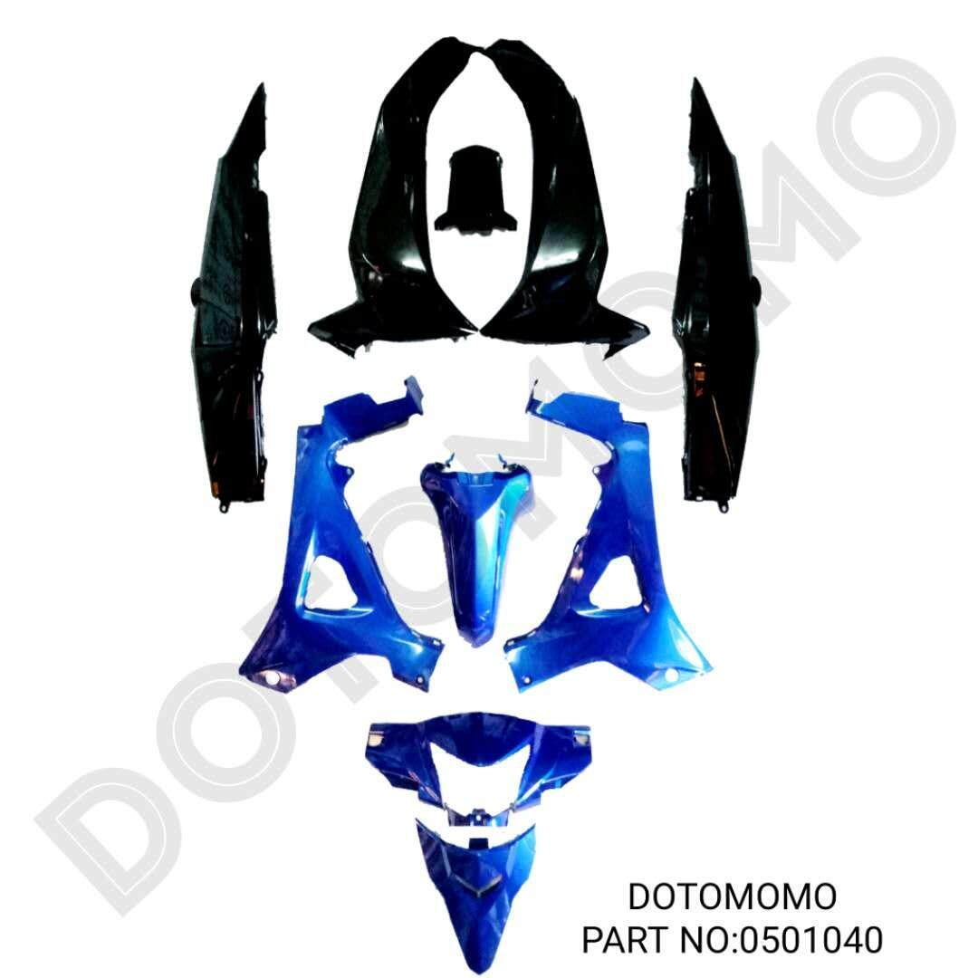"WAVE ALPHA110 DISC HONDA BODY COVER SET ""DOTOMOMO"""
