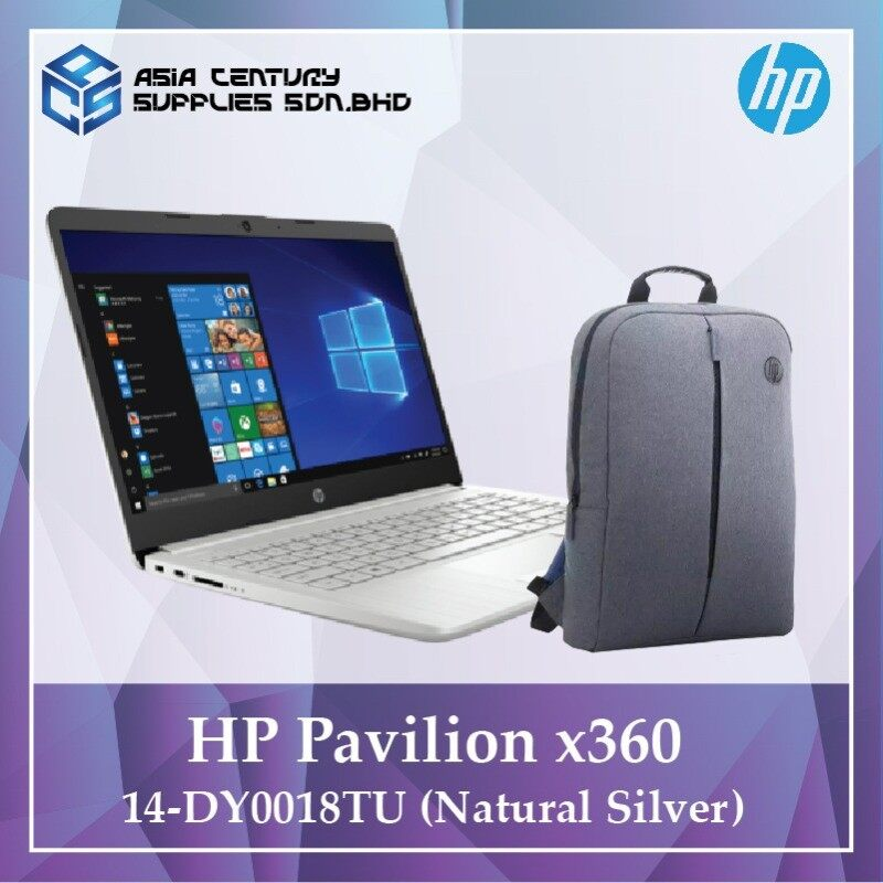 HP Pavilion x360 14-dy0018tu (Natural Silver) i5-1135G7 + Free Gift HP Backpack Malaysia