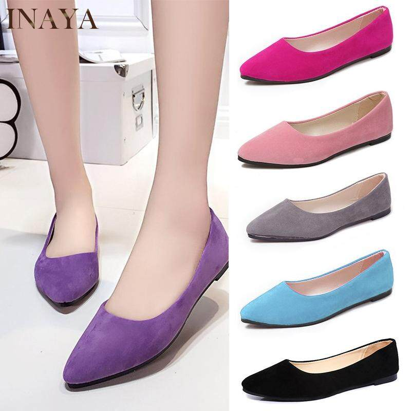 a704627aebbd8 INAYA Kasut Women Casual Flat Shoes Women Shoes Pointed Shoes Comfort Flats  Fashion Shoe Work