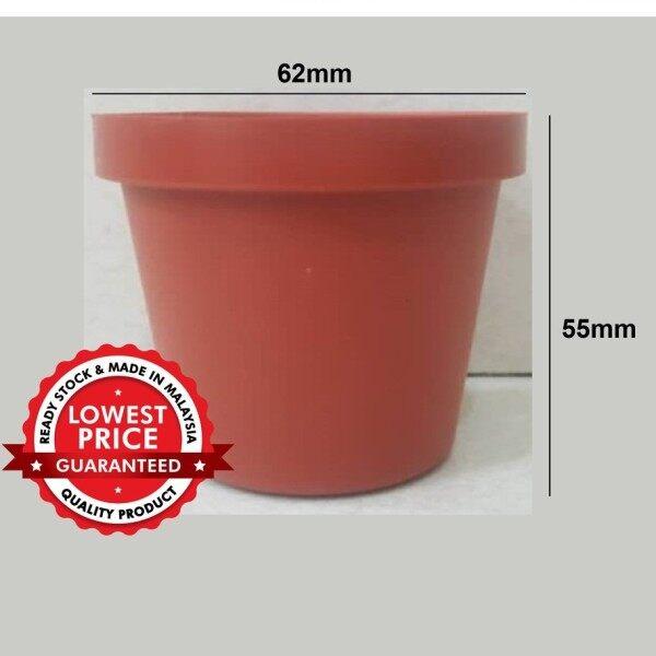 PLASTIC FLOWER POT PASU PLASTIK POKOK BUNGA DIAMETER :62mm [NCI-8625/FA07]