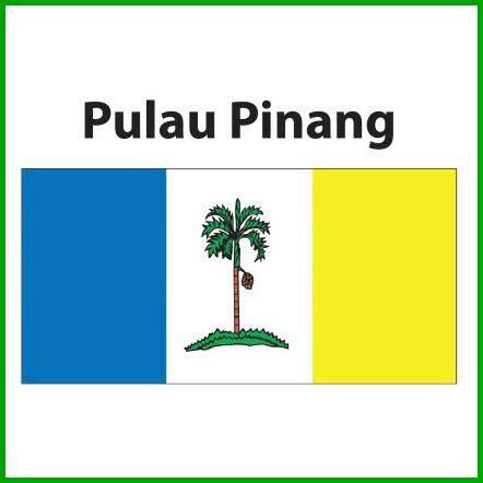 Pulau Pinang Flag 2x4ft, Bendera Pulau Pinang 2x4ft, Polyester