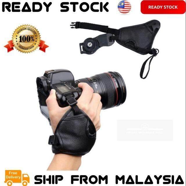 SLR/DSLR Camera Grip Hand Strap PU Leather Soft Wrist Strap Grip for Nikon Canon Sony