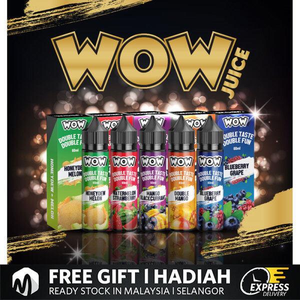 ( FREE BASE ) Woow Juice 60ML Vape Juice Free Base ( Honeydew Melon / Blackcurrant / Watermelon Strawberry / Blueberry Grape ) Ready Stock Wow Freebase wow juice Malaysia