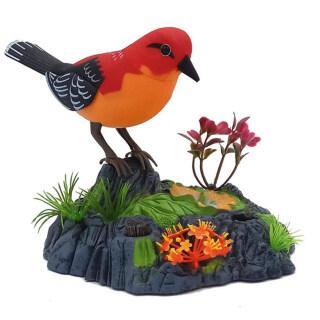 Nói Chuyện Điện Tử Lặp Đi Lặp Lại Vẹt Hót Chim Với Cảm Biến Chuyển Động Kích Hoạt Phát Âm Trẻ Em Đồ Chơi Động Vật Điện thumbnail