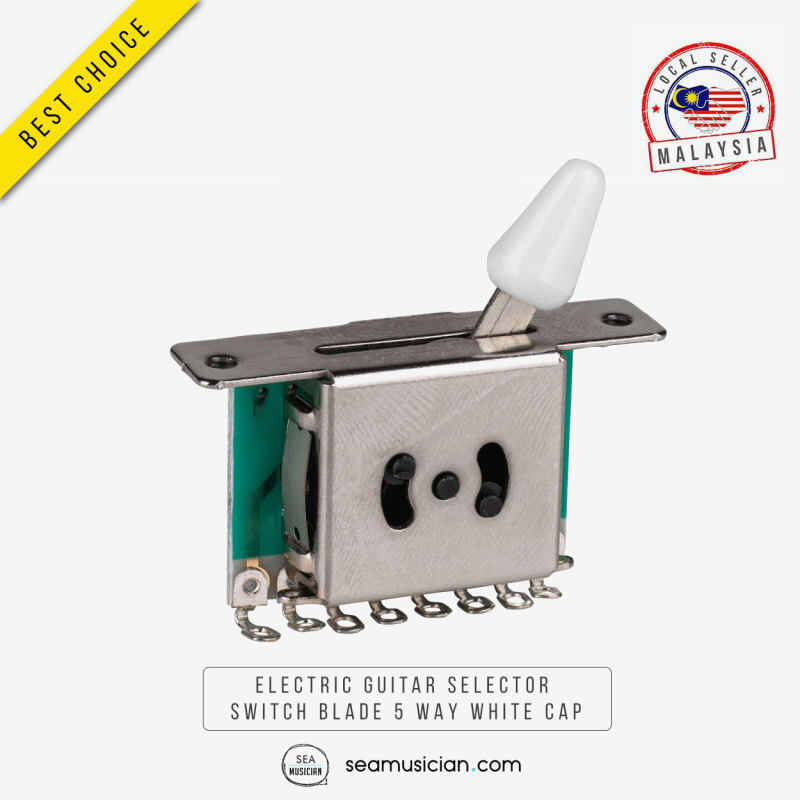 ELECTRIC GUITAR SELECTOR SWITCH BLADE 5 WAY SELECTER WHITE TIP Malaysia