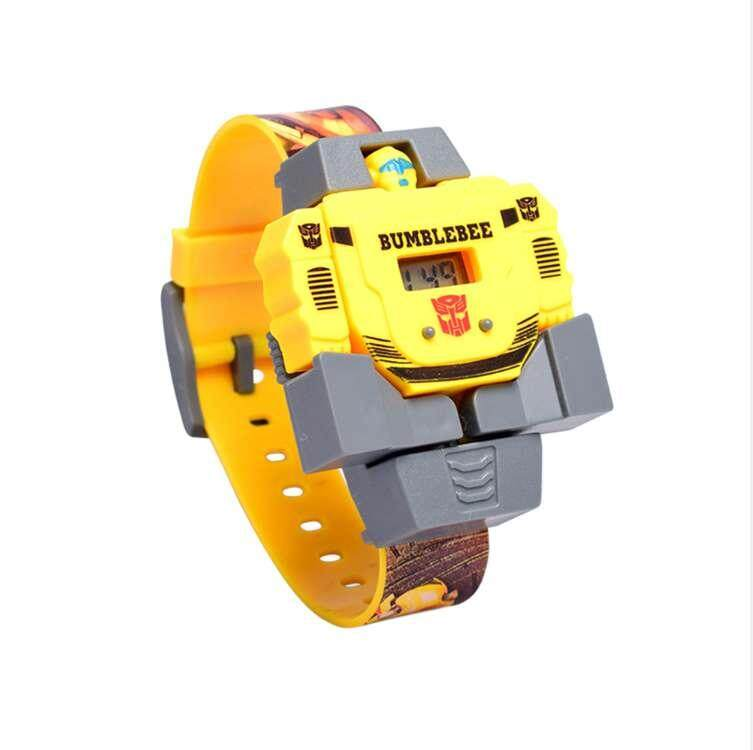 Childrens Cartoon Robot Transformation Toy Kids Waterproof Electric Wrist Watch Malaysia