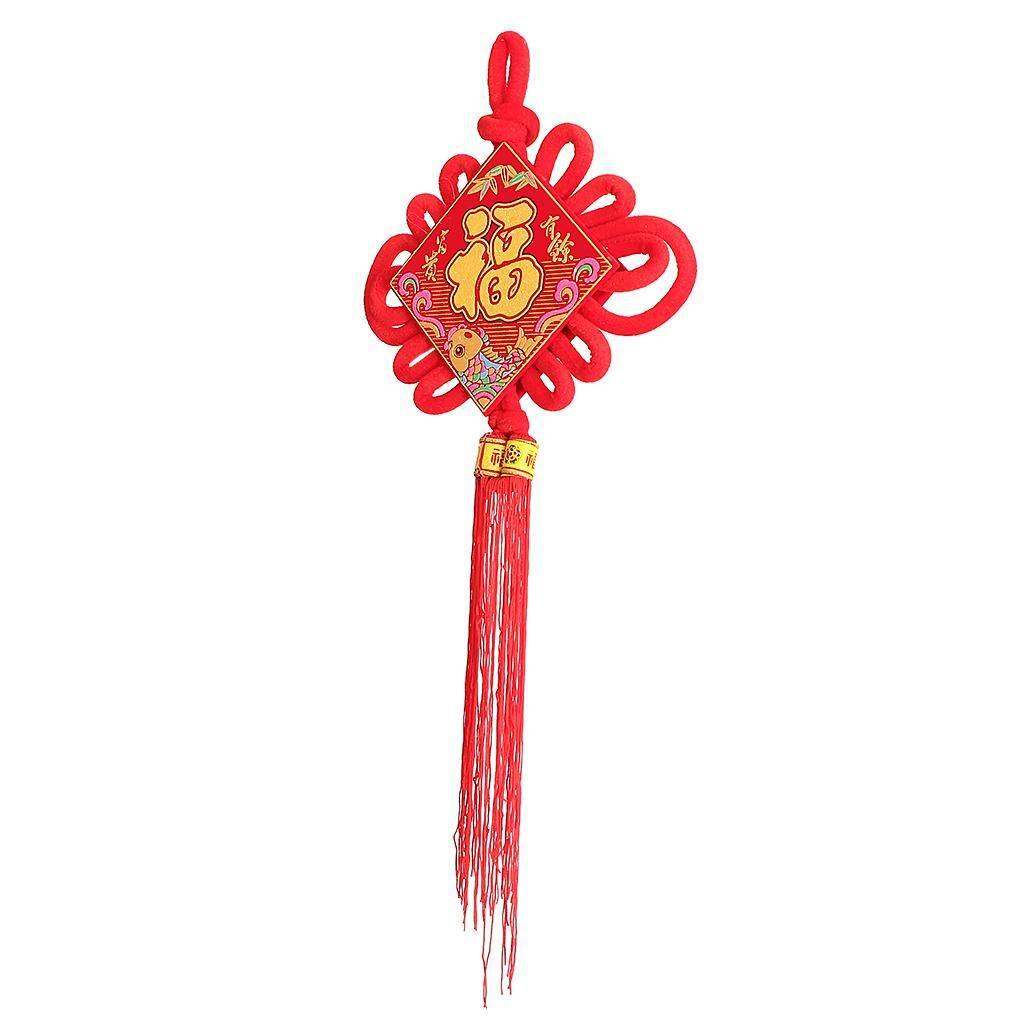 Bolehdeals Besar Rumbai Ikatan Tiongkok Tahun Baru Cina Fu 2019 Merah Tradisional Dekorasi
