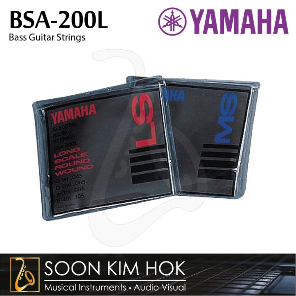 YAMAHA BSA-200L Bass Guitar Strings - Long Scale (.045 / .065 / .085 / .105) (BSA200L) Malaysia