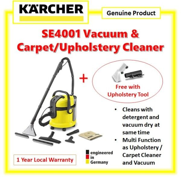 Karcher Carpet Cleaner SE 4001 + Upholstery Tool, SE4001