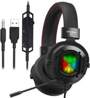 Tai nghe USB chơi game onikuma K3, tai nghe có dây âm thanh nổi 2.2m chống ồn, Có Mic, Tai nghe cho PS4, máy tính cá nhân, máy tính xách tay thumbnail