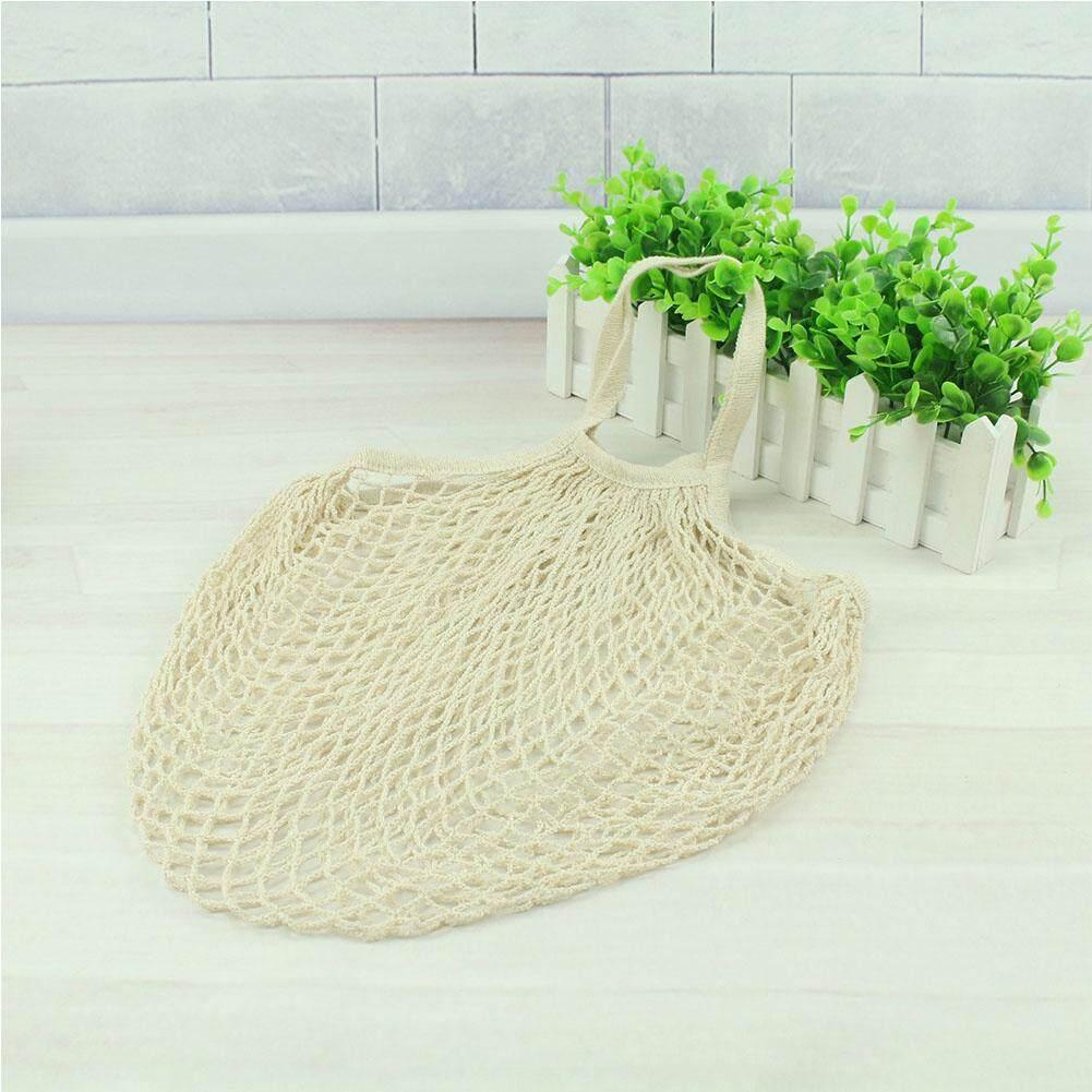 Có thể tái sử dụng Trái Cây Dây Tạp Hóa Shop Túi Lưới Dệt Lưới Vai Cotton