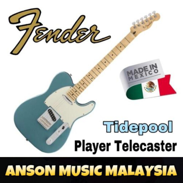 Fender Player Telecaster Electric Guitar, Maple Fingerboard, Tidepool Malaysia