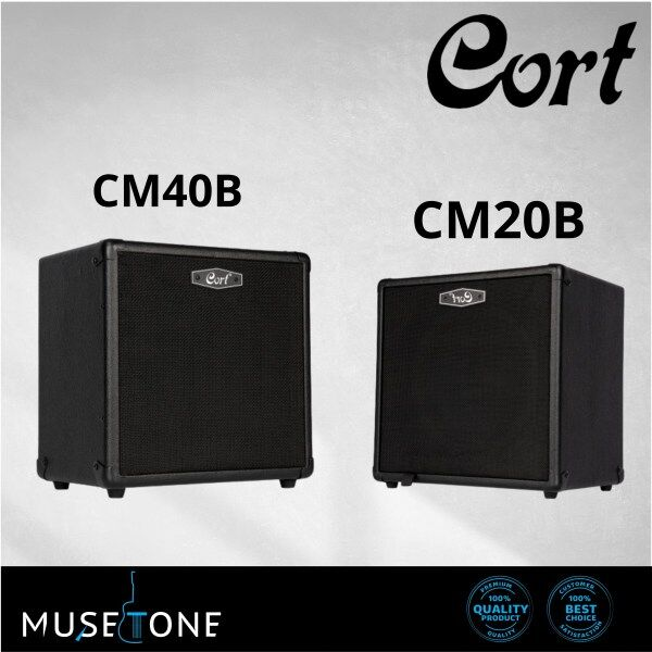 Cort GE Series Bass Amplifiers CM20B 20watt / CM40B 40watt for Bass Guitar and Keyboard Amplifiers Malaysia