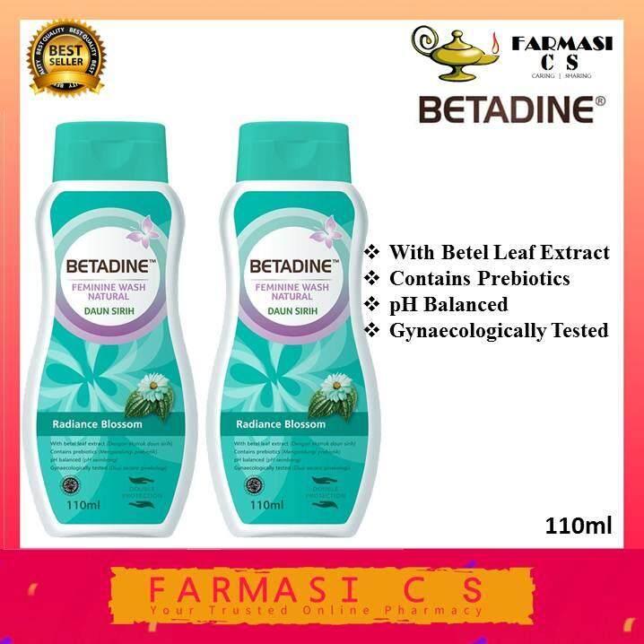 BETADINE Feminine Wash Natural Daun Sirih Radiance Blossom 110ml x 2 (TWIN) EXP:09/21