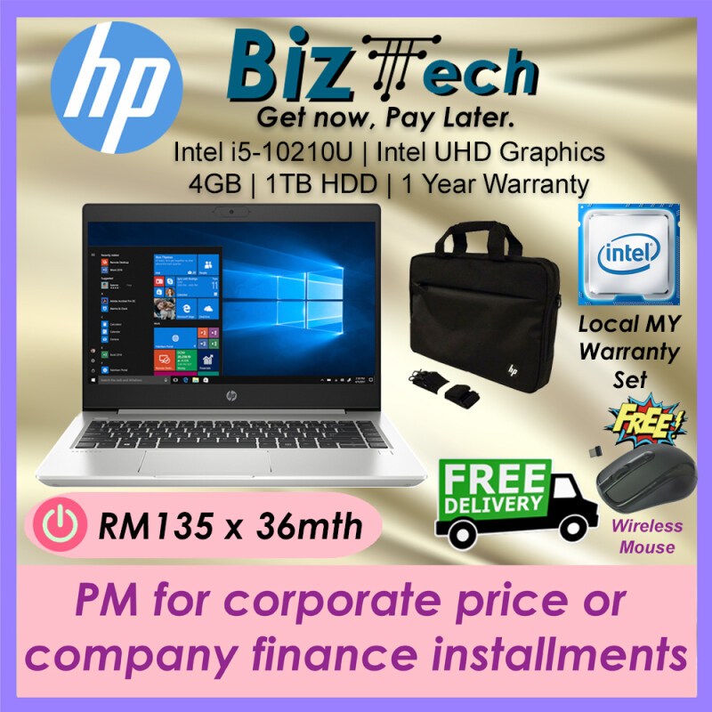 HP ProBook 440 G7 [FREE Top Load Carrying Case & Delivery] Commercial Laptop Leasing Rental Hire Purchase Installment Malaysia