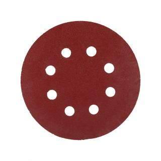 10 Đĩa Chà Nhám Màu Đỏ Hình Tròn 125Mm, Đĩa Mài 8 Lỗ 60 -1000 Grit Cát Giấy Tờ thumbnail