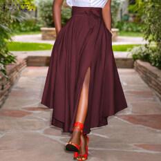 Chân váy xẻ cá tính ôm eo tôn dáng thích hợp dự tiệc lễ hội ZANZEA