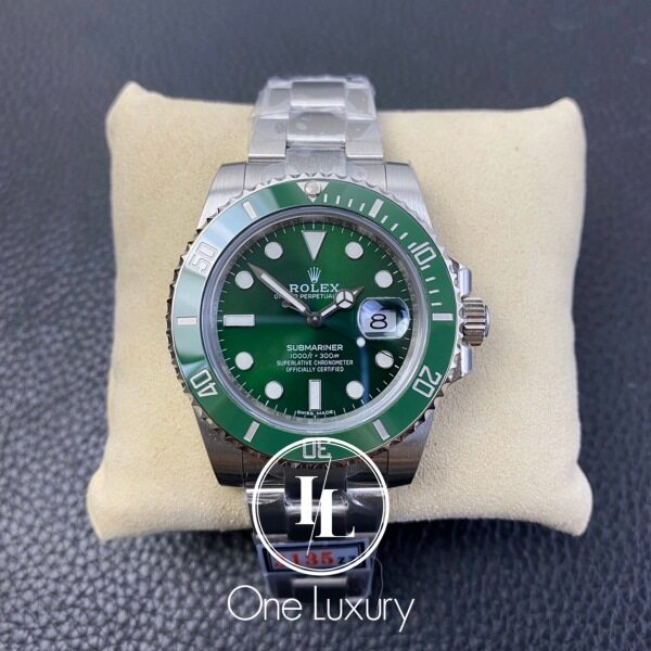 Origin SUBMARINER WITH DATE GREEN DIAL HULK ON 904L STAINLESS STEEL BRACELET CAL.3135 116610LV / 116610 绿水鬼 ZZF V2S Malaysia