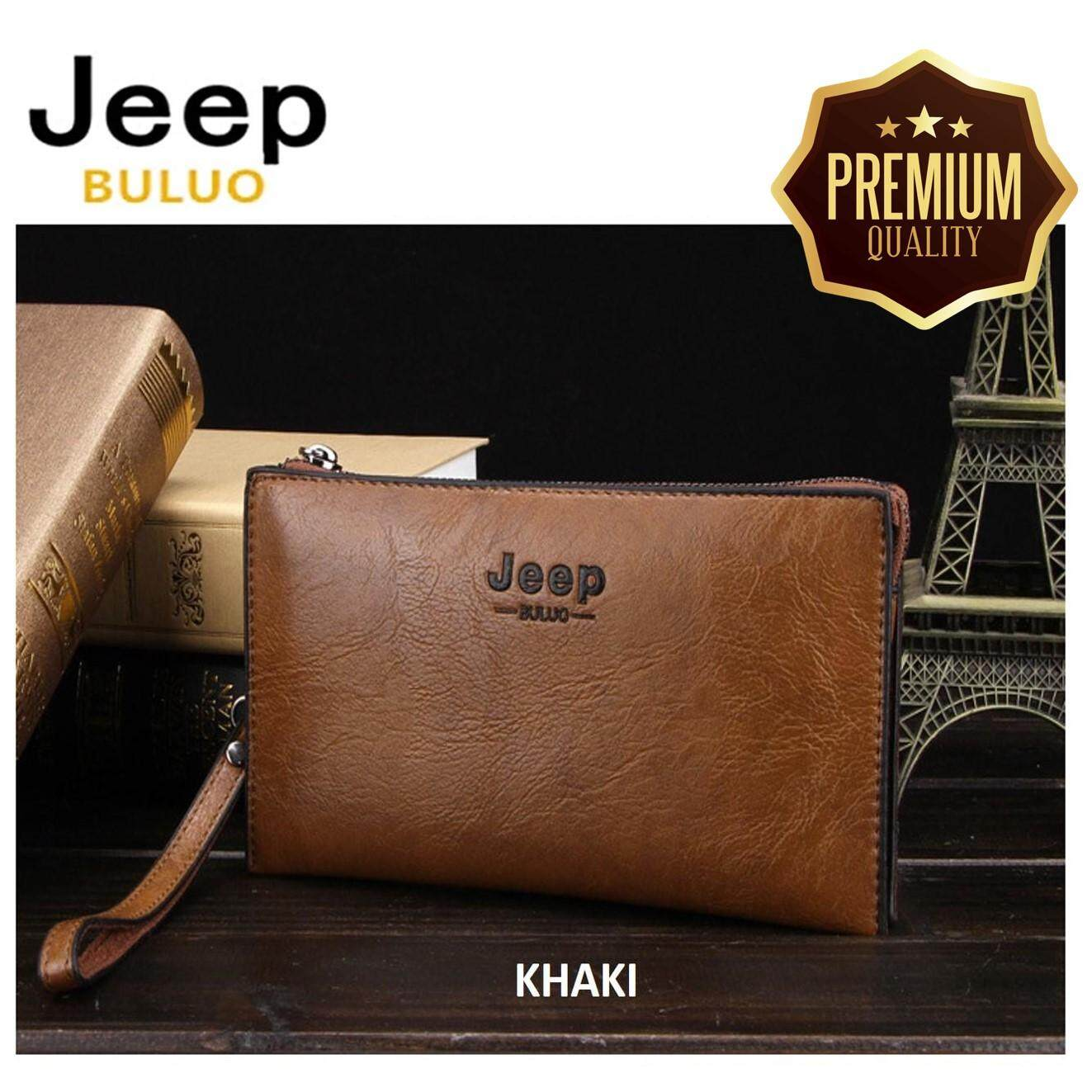 9138fba7f95e  PREMIUM QUALITY  JEEP Professional Men New Fashion Modern Genuine Leather  Hand Bag Wallet