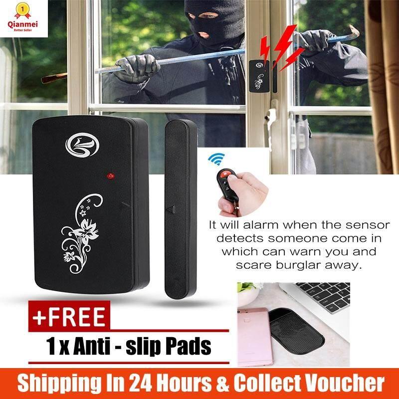 (Quà Tặng miễn phí!!!!!) Qianmei Nhà Thông Minh Trộm Gắn Cửa An Ninh Hệ Thống Cảm Biến Báo Động với Bộ Điều Khiển từ xa