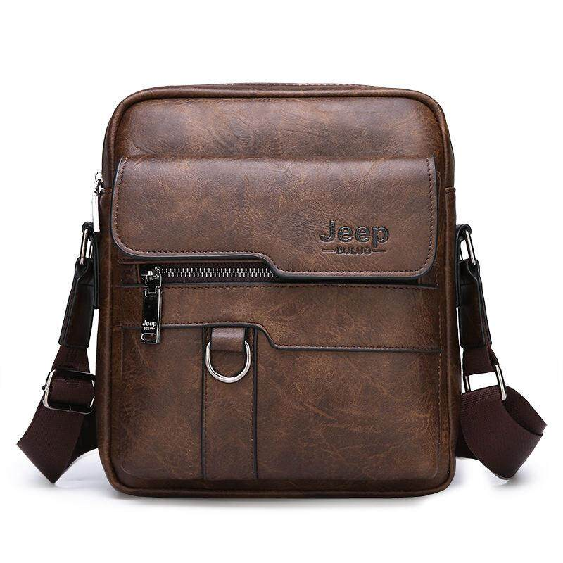 JEEP BULUO Luxury Brand Men Messenger Bags Crossbody Business Casual Handbag Large Capacity