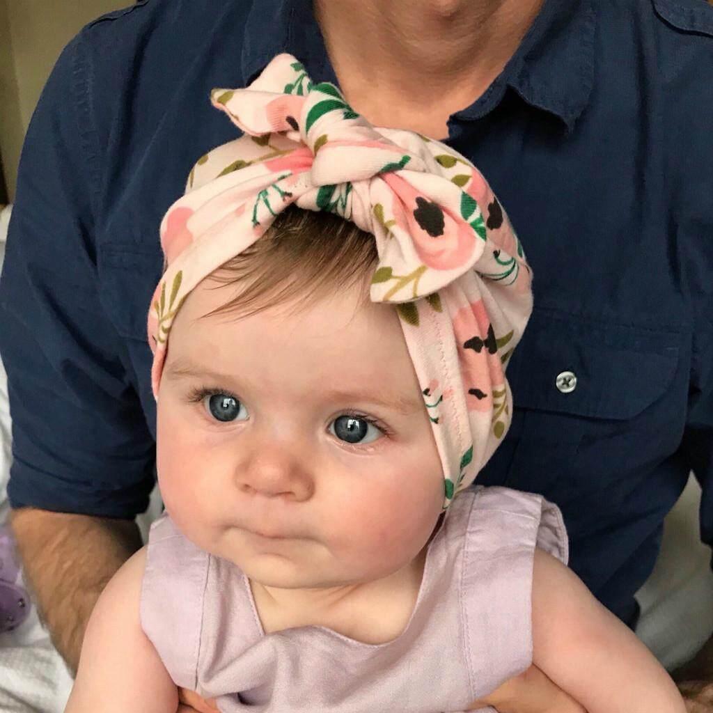 5bd81265e1abe Newborn Baby Boy Girl Baby Sun Hat Floral Bowknot Cap Toddler Turban Photo  Props