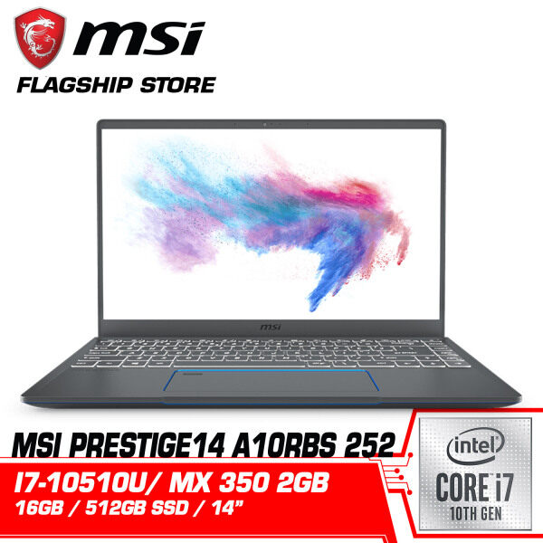 MSI Prestige 14 A10RBS 252 (GeForce MX 350 2GB) Business Laptop Malaysia