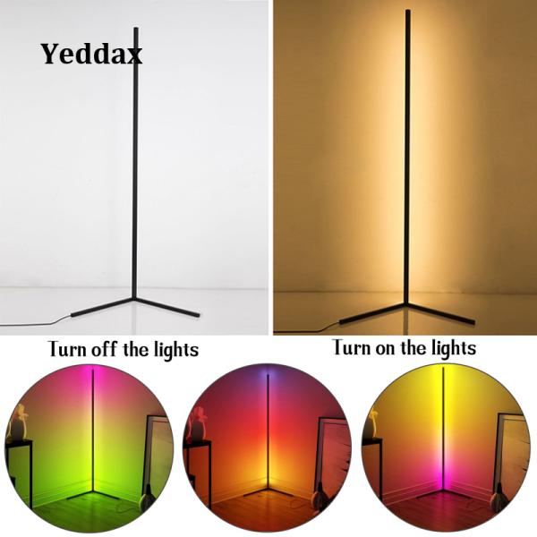 Đèn Sàn Giao Hưởng Yeddax Đèn LED Sàn Nhiều Màu Dải Đèn Ngủ Nhiều Màu Đơn Giản, Bầu Không Khí Tối Giản Đèn Cho Phòng Ngủ Trang Trí Nội Thất Cho Góc Phòng Khách