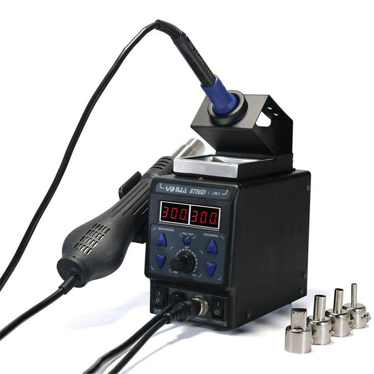 YIHUA 8786D Upgrade Rework Soldering Station 2 in 1 SMD