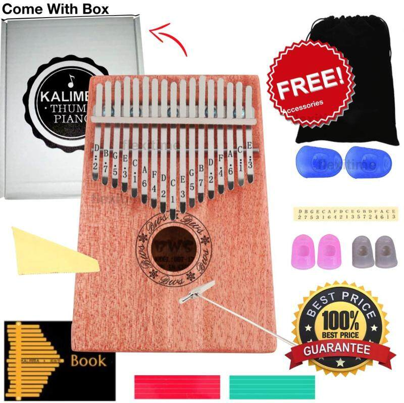 Kalimba Thumb Piano Acoustic Finger Piano Music Instrument 17 Keys Malaysia