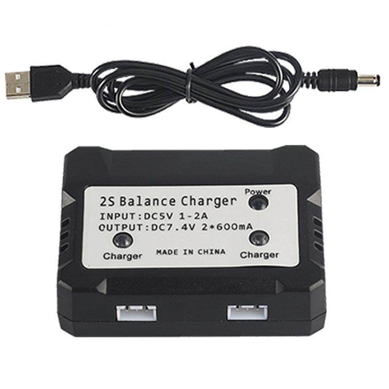 7.4V 2S Balance Charger Box Charging Adapter 2 in 1 for Syma X8C MJX X600 X101 Hubsan RC Drone Replacement