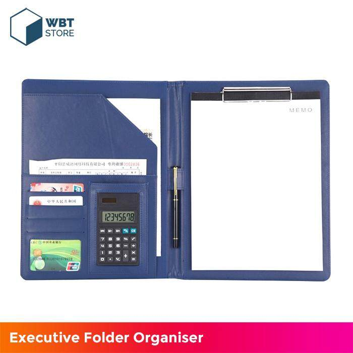 Executive Folder Organiser - Productivity Improvement Folder With Writing  Papers, Calculator and Storage Pockets For Office Documents