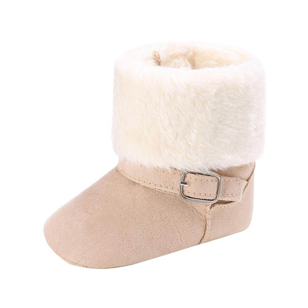 9e03df22eaa79 Tideshop Baby Girl Soft Booties Snow Solid Cashmere Boots Toddler Warm Shoes