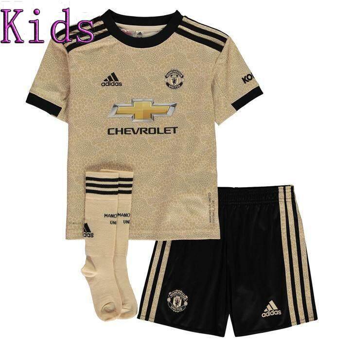 best cheap 689a6 759bb FREE Socks Kids 19/20 MAN POGBA RASHFORD Jersey with Shorts