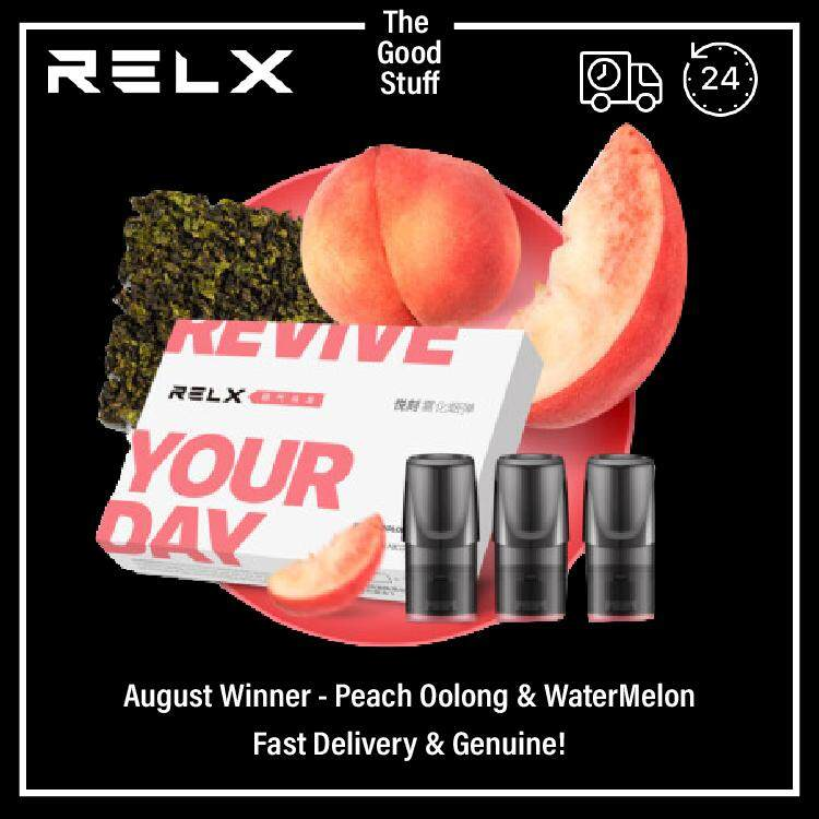 [100% Original Product] Relx Malaysia Juice Pod (3 Pod per Pack); Ready Stock (Shipout within 24hrs) Malaysia