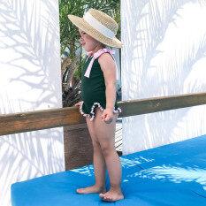 Guang Xi Mall Trẻ Mới Biết Đi Trẻ Em Em Bé Nữ Trơn Tua Rua Bikini Một Mảnh Đồ Bơi Bãi Biển