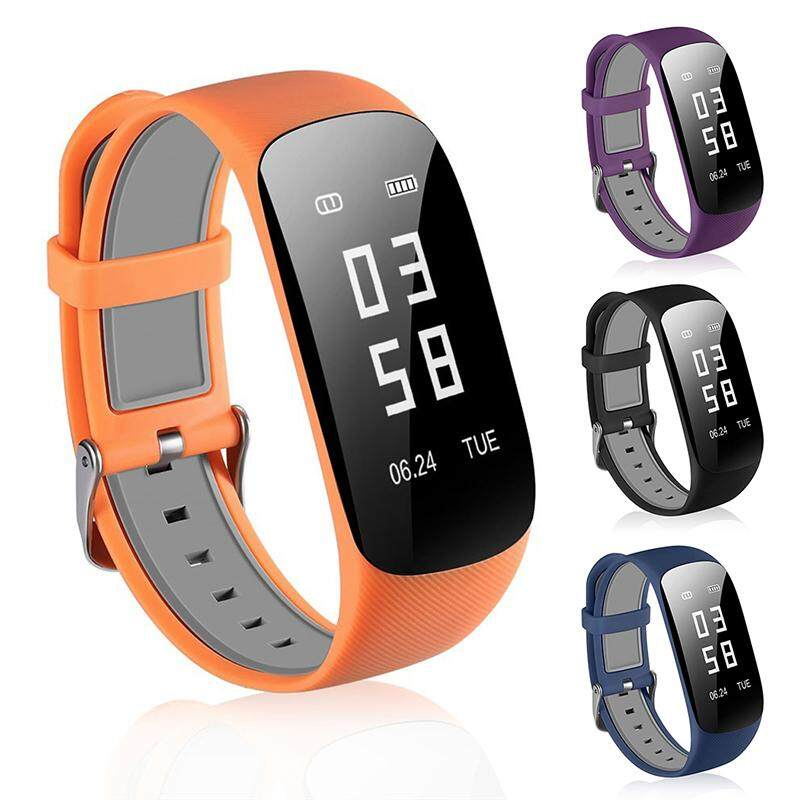 "XANES Z17 0.96"" OLED IP67 Waterproof Heart Rate Blood Pressure Monitor Fitness Smart Watch Smart Bracelet-Orange"