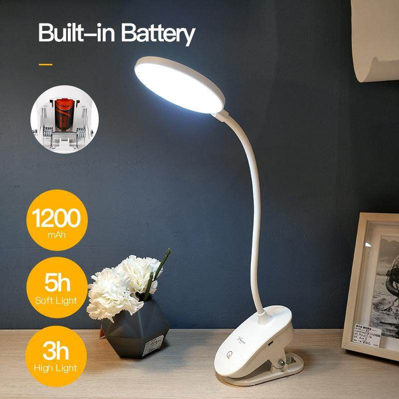 YAGE T101 Touch Switch 3 Modes Clip Desk Lamp 7000K Eye Protection Reading Dimmer USB Led Table Lamp Table Light