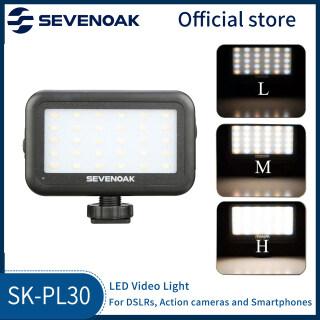 Sixoak Điều Chỉnh 30 Đèn LED Quay Video Cho Máy Quay Máy Ảnh DSLR Điện Thoại Thông Minh thumbnail