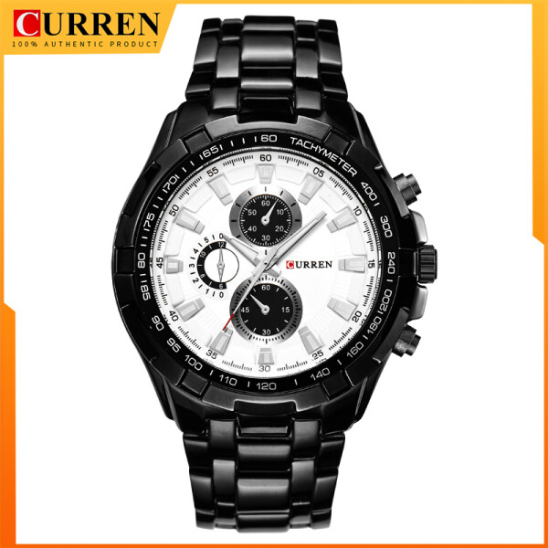 New CURREN Men Watches Fashion Quartz Waterproof Watch Stainless Steel Military Sports Watches 8023 Malaysia