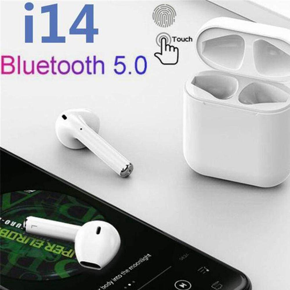 9bd25dffeb9 I14 TWS Touch Control Wireless Bluetooth 5.0 Super Bass Earphone Double Ear  Call for Ios Android